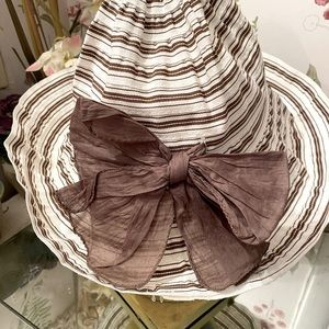 Grevi Italian SunHat -7.5 brown striped hat